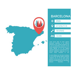 Barcelona map infographic vector