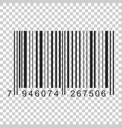 barcode product distribution icon on isolated vector image