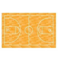 Basketball field court yard FIBA infographics vector