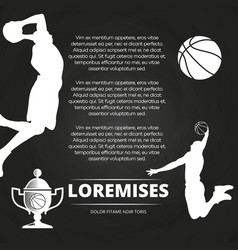 Basketball tournament background with athlete vector