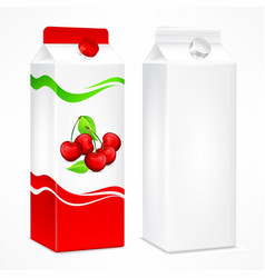 cherry juice package vector image