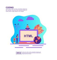 concept coding modern conceptual for banner vector image