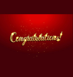 Congratulations card banner vector