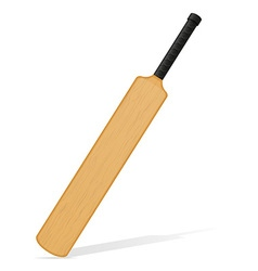 cricket bat 04 vector image