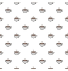 Cup of hot tea pattern cartoon style vector