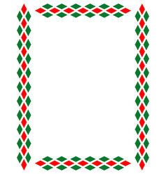 Decorative art italian frame pattern vector