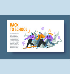 distant learning online education web page vector image