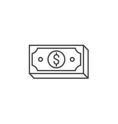 dollar related line icon vector image