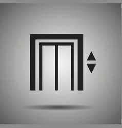 Elevator icon lift symbol vector