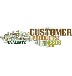 Evaluate your customer text background word cloud vector