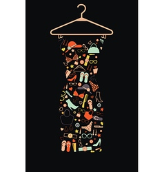 Female dress from accessories vector image