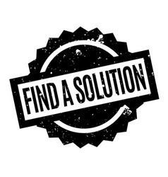 Find a solution rubber stamp vector