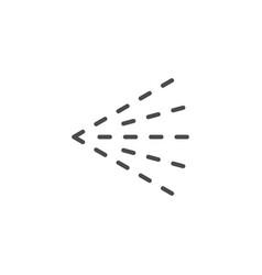 Fluid spray cloud line outline icon vector