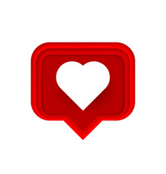 frame heart like social network white background vector image