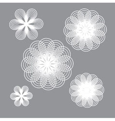 Geometry flower vector image