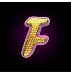 golden and pink letter f vector image
