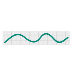 green linear graph icon flat style vector image