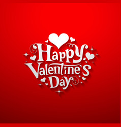 Happy Valentine day message banner design vector image