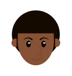 head face man male character vector image