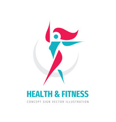 health fitness - concept business logo design vector image