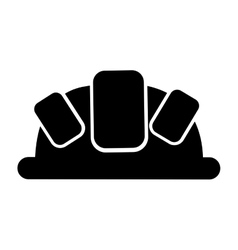 Helmet head protection icon vector