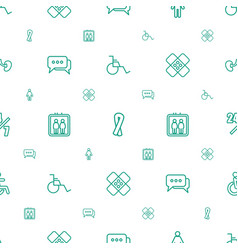 Help icons pattern seamless white background vector