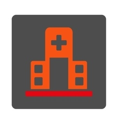 Hospital Building Flat Button vector