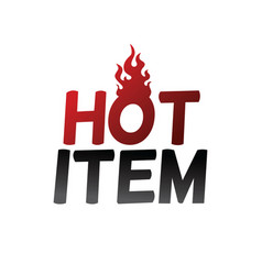 Hot item deal vector