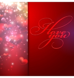 I love you holiday background with hearts vector