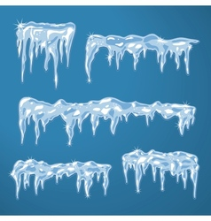 Ice sheets with icicles vector