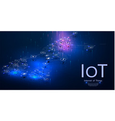 Internet of things iot devices and connectivity vector