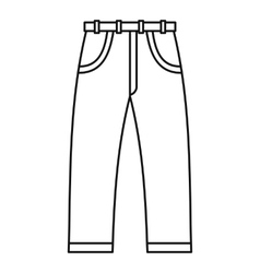 Jeans icon outline style vector