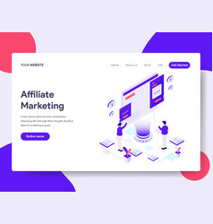 landing page template of affiliate marketing vector image