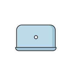 Laptop rgb color icon vector