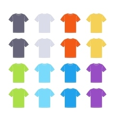 Male colored short sleeve t-shirts templates vector image
