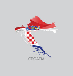 map croatia vector image