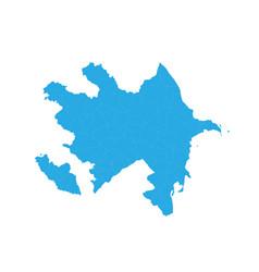 Map of azerbaijan high detailed map - azerbaijan vector