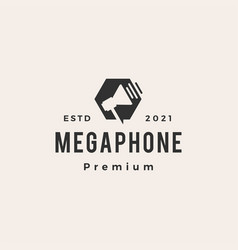 megaphone hipster vintage logo icon vector image