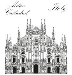 Milan cathedral in italy vector