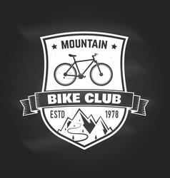 mountain bike club vector image