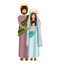 Picture of sacred family standing vector