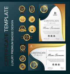 Professional certificate template with luxury and vector