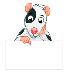 Rat pet banner vector image
