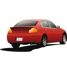 Red sedan vector