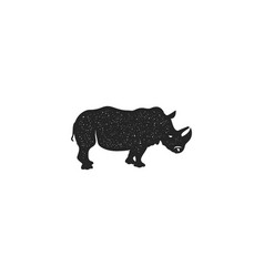 rhino icon silhouette design wild animal symbol vector image