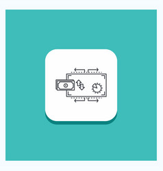 round button for finance flow marketing money vector image