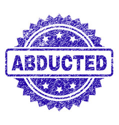 Scratched abducted stamp seal vector