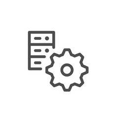 Server settings line icon vector