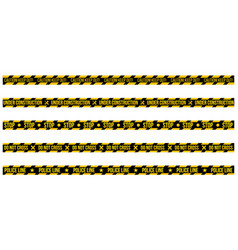 set of caution tapes on whit e background vector image