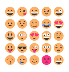 set of smiling icons emoticons different vector image